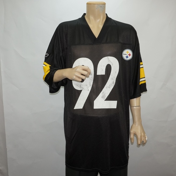 uk availability 2c27d 8a8b9 Pittsburgh Steelers James Harrison #92 Jersey